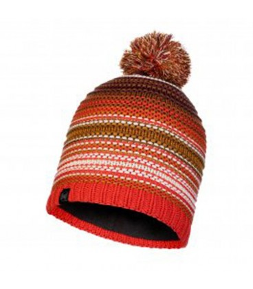 BUFF KNITTED AND POLAR HAT NEPER MAROON